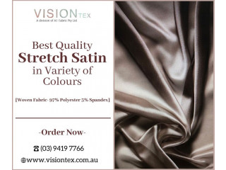 Shop High Quality Stretch Satin Fabric in Variety of Colours