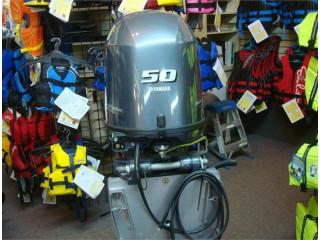 Used Yamaha 50HP 4-Stroke Outboard Motor Engine