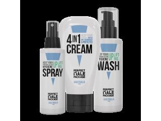 Perfect Male Bundle - Anti Chafing Cream, Antibacterial Body Wash, Antifungal Spray