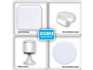 ZigBee sensor Kit Tuya Zigbee Hub Smart Home PIR Sensor Door Sensor